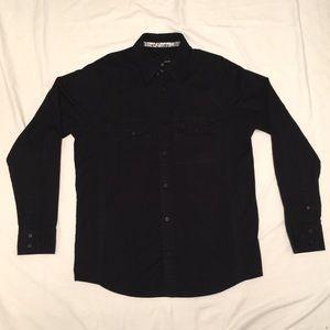 Black Hurley Button Down Shirt